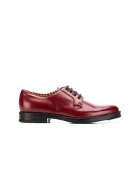 Zapatos derby de cuero burdeos de Gucci