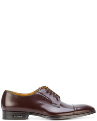Zapatos derby de cuero burdeos de Paul Smith