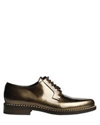 Zapatos derby de cuero dorados