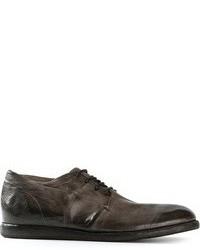 Zapatos derby de cuero en gris oscuro