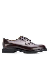 Zapatos derby de cuero en marrón oscuro de Berwick Shoes