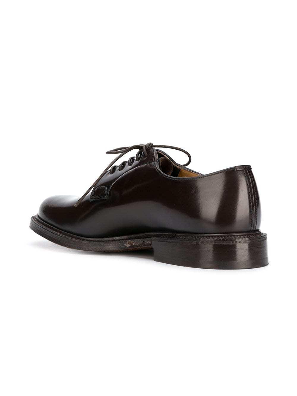 Zapatos derby de cuero en marrón oscuro de Church's