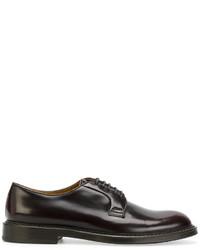 Zapatos derby de cuero en marrón oscuro de Doucal's