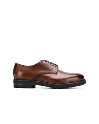 Zapatos derby de cuero en marrón oscuro de Henderson Baracco