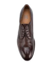 Zapatos derby de cuero en marrón oscuro de Moma