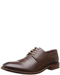 Zapatos derby de cuero en marrón oscuro de Ted Baker