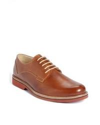 Zapatos derby de cuero en tabaco