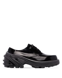 Zapatos derby de cuero gruesos negros de 1017 Alyx 9Sm