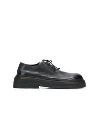 Zapatos derby de cuero gruesos negros de Marsèll