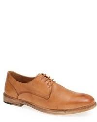 Zapatos derby de cuero marrón claro