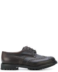 Zapatos Derby de Cuero Marrón Oscuro de Church's