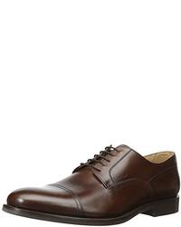 Zapatos Derby de Cuero Marrón Oscuro de Geox