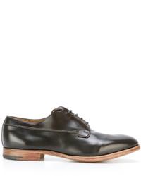 Zapatos Derby de Cuero Marrón Oscuro de Premiata