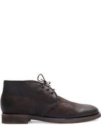 Zapatos Derby de Cuero Marrón Oscuro de Silvano Sassetti