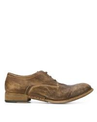 Zapatos derby de cuero marrónes de Artselab