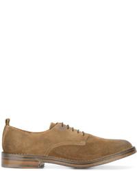 Zapatos derby de cuero marrónes de Buttero