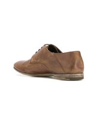 Zapatos derby de cuero marrónes de Premiata