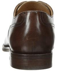 Zapatos derby de cuero marrónes de Geox