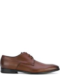 Zapatos derby de cuero marrónes de Hugo Boss