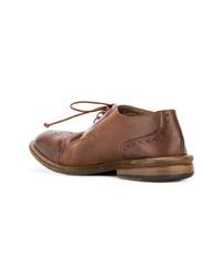Zapatos derby de cuero marrónes de Marsèll