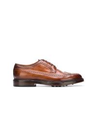 Zapatos derby de cuero marrónes de Officine Creative