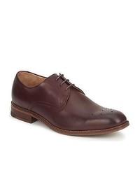 Zapatos Derby de Cuero Morado Oscuro de Ben Sherman