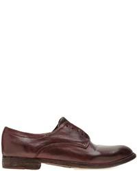 Zapatos Derby de Cuero Morado Oscuro de Officine Creative