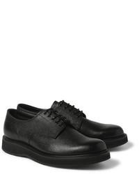 Zapatos derby de cuero negros