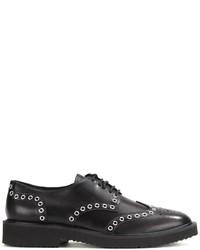 Zapatos derby de cuero negros de Giuseppe Zanotti Design