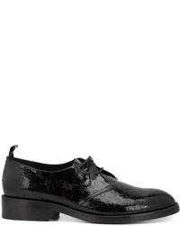 Zapatos Derby de Cuero Negros de Golden Goose Deluxe Brand