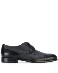 Zapatos derby de cuero negros de Hugo Boss