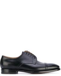 Zapatos derby de cuero negros de Kiton