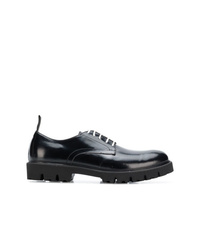 Zapatos derby de cuero negros de Low Brand