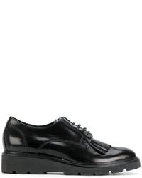 Zapatos Derby de Cuero Negros de P.A.R.O.S.H.