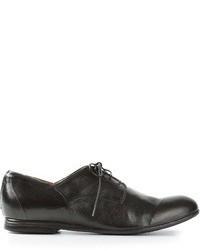 Zapatos derby de cuero negros de Pantanetti