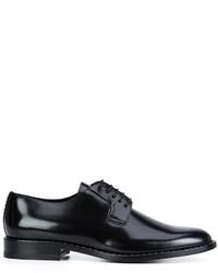 Zapatos derby de cuero negros de Saint Laurent