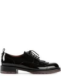 Zapatos Derby de Cuero Negros de Valentino Garavani