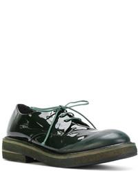 Zapatos Derby de Cuero Verde Oscuro de Marsèll