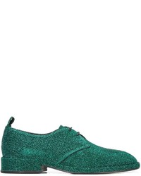 Zapatos derby de cuero verdes de Golden Goose Deluxe Brand