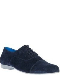 Zapatos oxford de ante azul marino de Swear