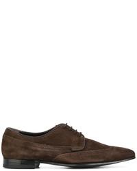 Zapatos oxford de ante en marrón oscuro de Paul Smith