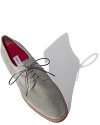 Zapatos Oxford de Ante Grises de Manolo Blahnik