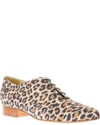 Zapatos oxford de ante marrón claro
