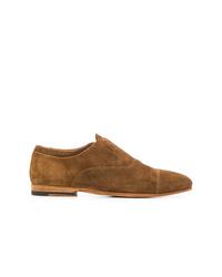 Zapatos oxford de ante marrónes de Officine Creative