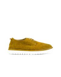 Zapatos oxford de ante mostaza de Marsèll