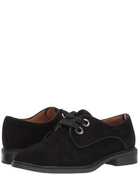 Zapatos oxford de ante negros