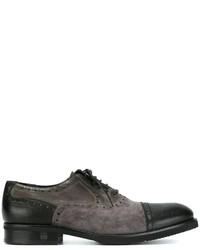 Zapatos oxford de ante negros de Baldinini