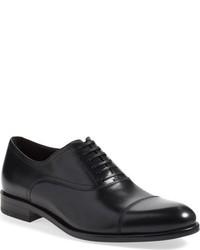 Zapatos oxford de cuero azul marino