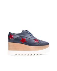 Zapatos oxford de cuero azul marino de Stella McCartney