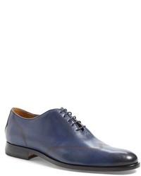 Zapatos oxford de cuero azules